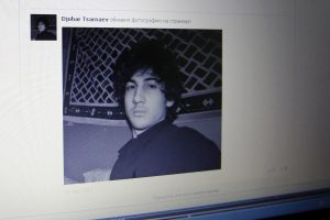 FILE PHOTO: A photograph of Djohar Tsarnaev, who is believed to be Dzhokhar Tsarnaev, a suspect in the Boston Marathon bombing, is seen on his page of Russian social networking site Vkontakte (VK), as pictured on a monitor in St. Petersburg April 19, 2013. REUTERS/Alexander Demianchuk