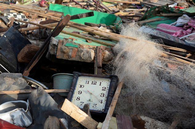 Debris are seen after the tsunami damage at Sunda strait at Kunjir village in South Lampung, Indonesia, December 28, 2018. Antara Foto/Ardiansyah via REUTERS