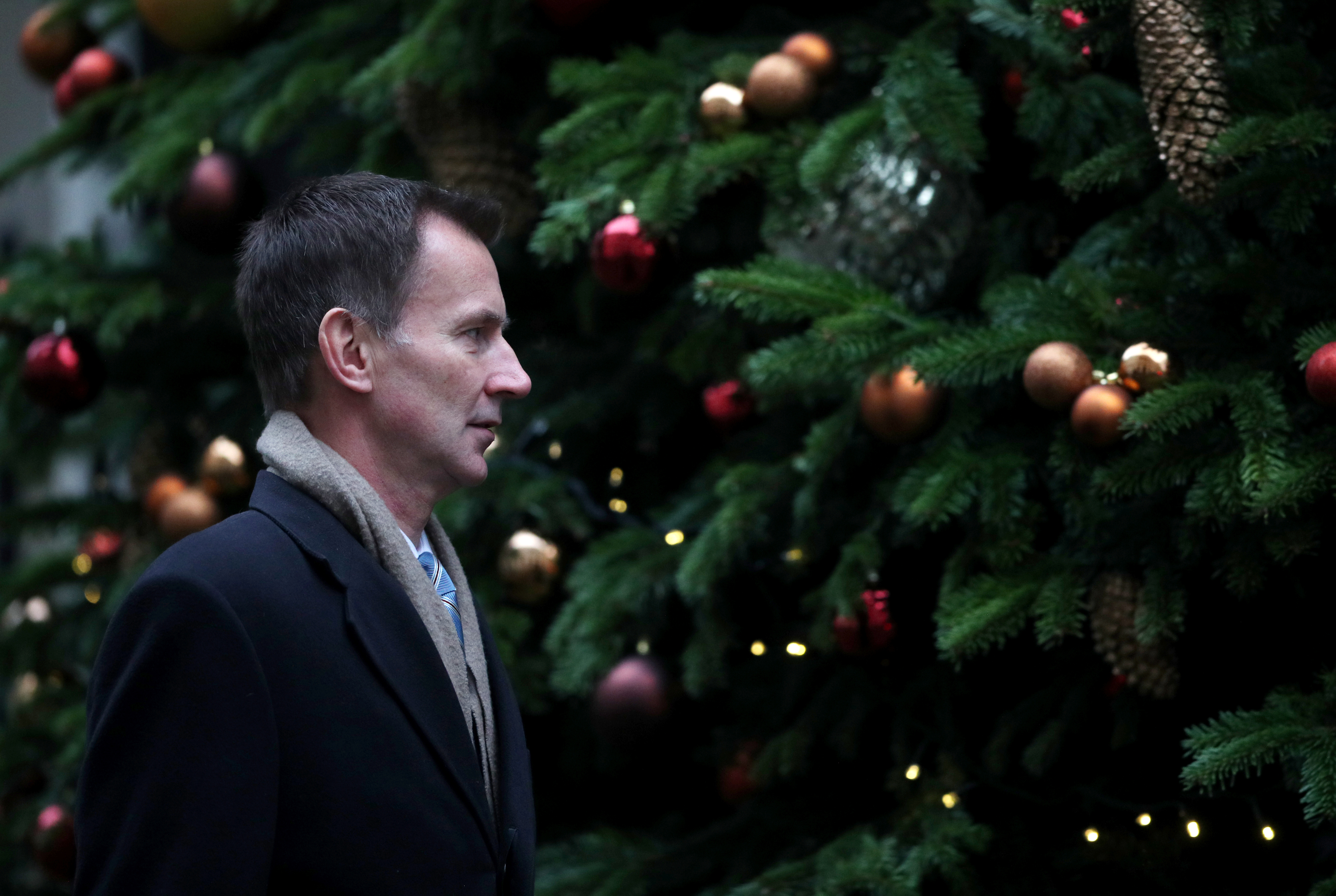 FILE PHOTO: Britain's Foreign Secretary Jeremy Hunt arrives in Downing Street, London, Britain, December 18, 2018. REUTERS/Hannah McKay