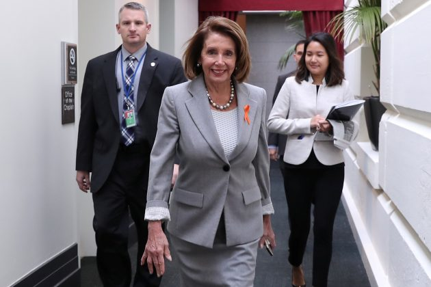 U.S. House Speaker Nancy Pelosi (D-CA) arrives for a House Democratic party caucus meeting at the U.S. Capitol in Washington, U.S. January 9, 2019. REUTERS/Jonathan Ernst