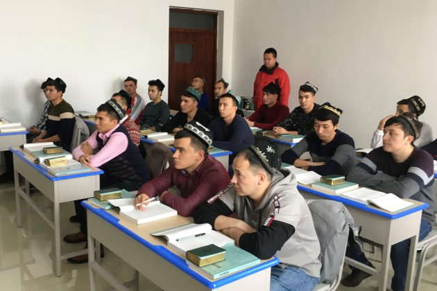 Islamic studies students attend a class at the Xinjiang Islamic Institute during a government organised trip in Urumqi, Xinjiang Uighur Autonomous Region, China, January 3, 2019. Picture taken January 3, 2019. REUTERS/Ben Blanchard