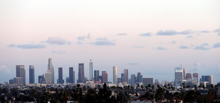The downtown skyline is pictured in Los Angeles, California, U.S., February 22, 2018. REUTERS/Mario Anzuoni