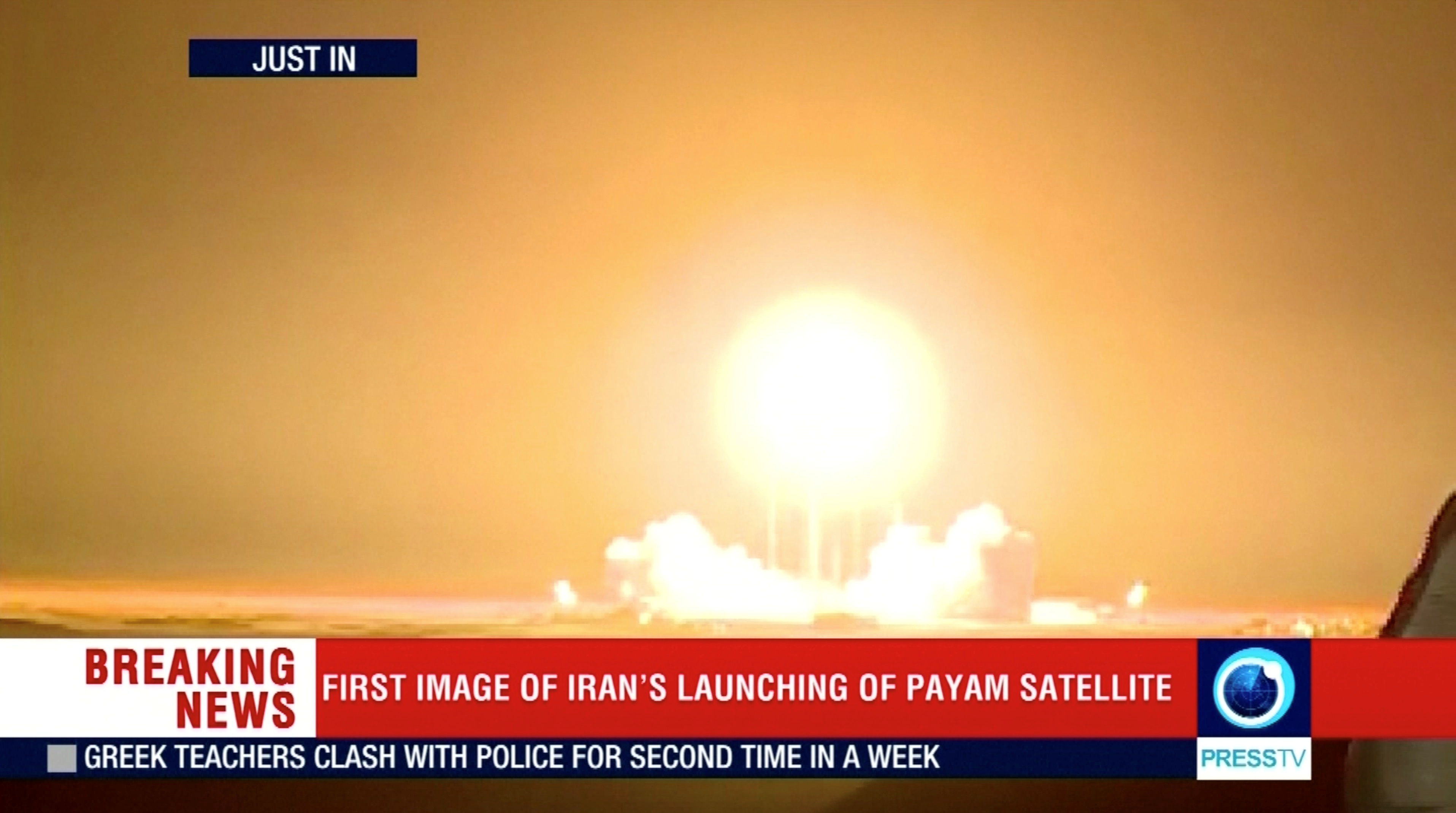The Payam satellite is launched in Iran, January 15, 2019, in this still image taken from video. Reuters TV/via REUTERS