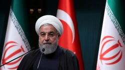 FILE PHOTO: Iranian President Hassan Rouhani speaks at a news conference after a meeting with Turkish counterpart Tayyip Erdogan in Ankara, Turkey, December 20, 2018. REUTERS/Umit Bektas/File Photo