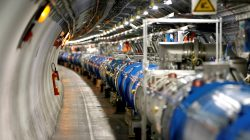 FILE PHOTO: A general view of the Large Hadron Collider (LHC) experiment during a media visit at the Organization for Nuclear Research (CERN) in Saint-Genis-Pouilly, France, near Geneva in Switzerland, July 23, 2014. REUTERS/Pierre Albouy