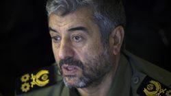 FILE PHOTO: Iran's Revolutionary Guards commander Mohammad Ali Jafari looks on while attending Friday prayers in Tehran February 10, 2012. REUTERS/Morteza Nikoubazl