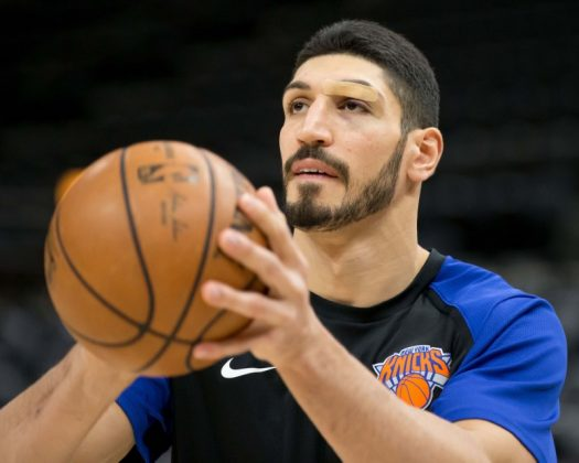 FILE PHOTO: Dec 29, 2018; Salt Lake City, UT, USA; New York Knicks center Enes Kanter (00) warms up prior to the game against the Utah Jazz at Vivint Smart Home Arena. Mandatory Credit: Russ Isabella-USA TODAY Sports