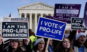 Anti-abortion marchers rally at the Supreme Court during the 46th annual March for Life in Washington, U.S., January 18, 2019. REUTERS/Joshua Roberts