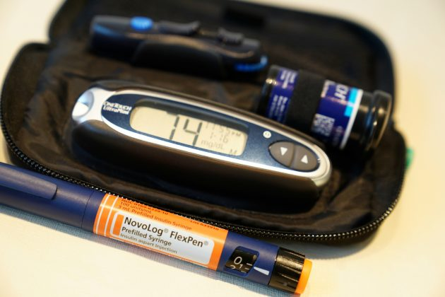 FILE PHOTO: Insulin supplies are pictured in the Manhattan borough of New York City, New York, U.S., January 18, 2019. REUTERS/Carlo Allegri