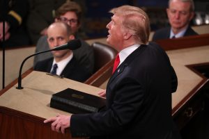 U.S. President Donald Trump delivers his second State of the Union address to a joint session of the U.S. Congress in the House Chamber of the U.S. Capitol on Capitol Hill in Washington, U.S. February 5, 2019. REUTERS/Jonathan Ernst