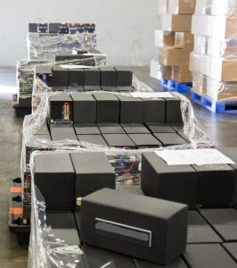 Authorities in California seize methamphetamine concealed in a shipment of loud speakers at the Los Angeles/Long Beach seaport bound for Australia, in this photo provided by U.S. Customs and Border Patrol, in Los Angeles, California, U.S., February 9, 2019. CBP/Handout via REUTERS