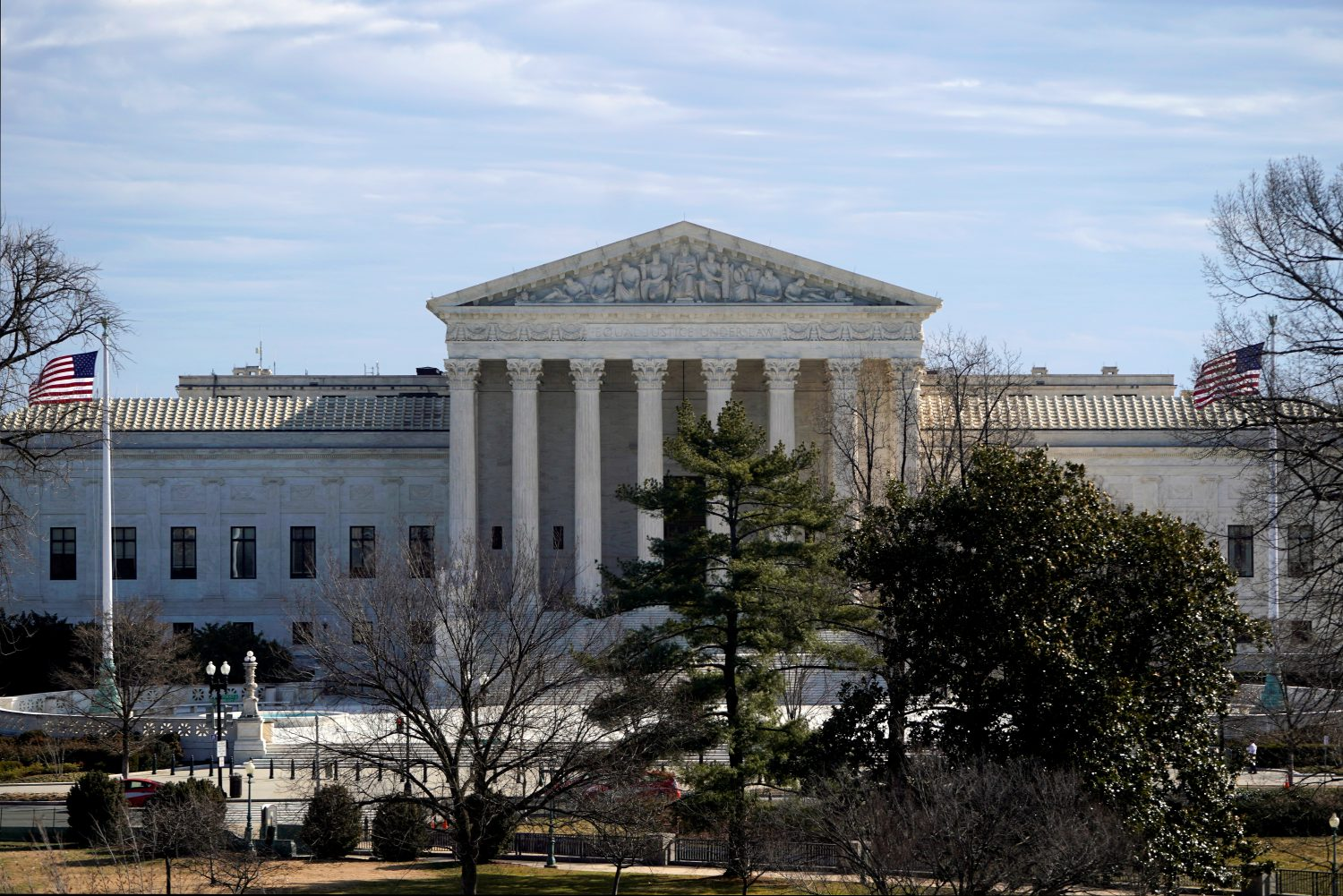 The Supreme Court building is seen from the U.S. Capitol in Washington, U.S., February 15, 2019. REUTERS/Joshua Roberts