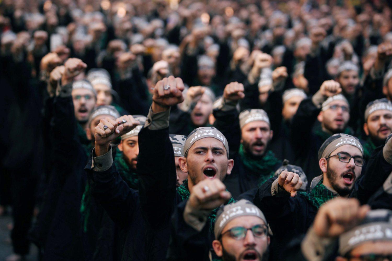 FILE PHOTO: Lebanon's Hezbollah supporters chant slogans during last day of Ashura, in Beirut, Lebanon September 20, 2018. REUTERS/Aziz Taher/File Photo