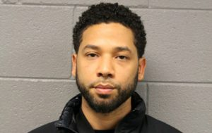 Actor Jussie Smollett, 36, appears in a booking photo provided by the Chicago Police Department in Chicago, Illinois, U.S., February 21, 2019. Courtesy Chicago Police Department/Handout via REUTERS