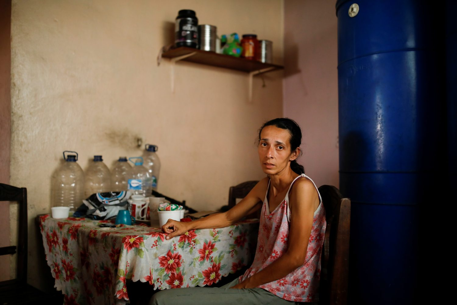 Yaneidi Guzman, 38, poses for a picture at her home in Caracas, Venezuela, February 17, 2019. REUTERS/Carlos Garcia Rawlins