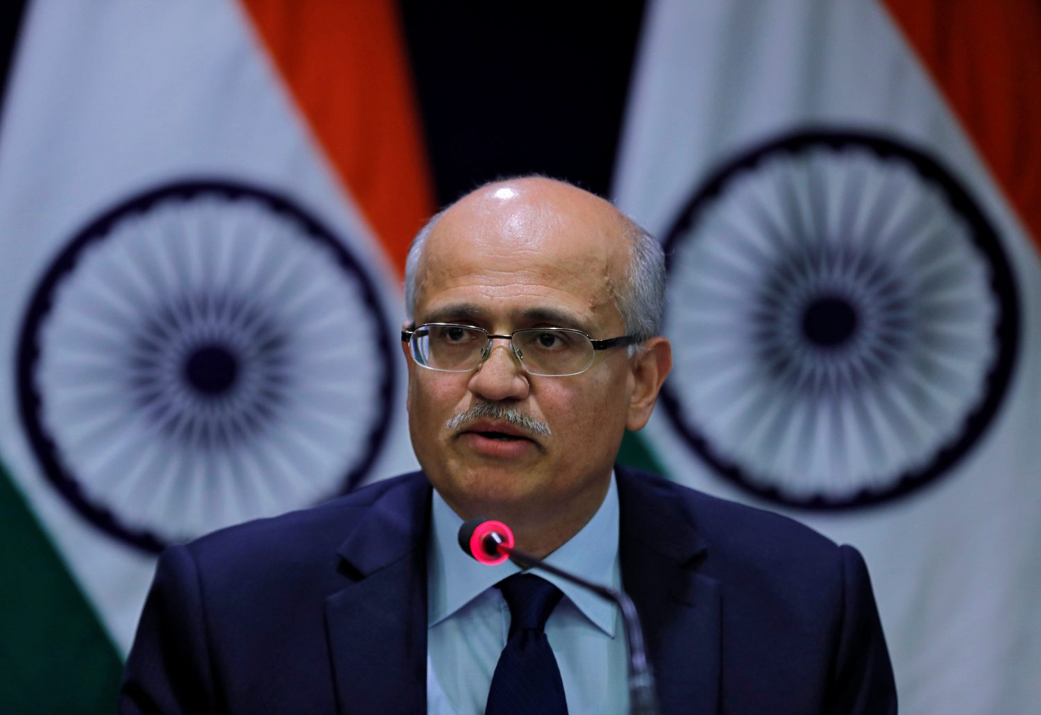 India's Foreign Secretary Vijay Gokhale speaks during a media briefing in New Delhi, India, February 26, 2019. REUTERS/Adnan Abidi