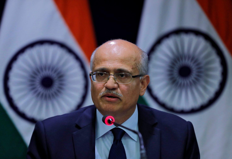 India's Foreign Secretary Vijay Gokhale speaks during a media briefing in New Delhi, India, February 26, 2019. REUTERS/Adnan Abidi