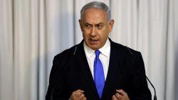 FILE PHOTO: Israeli Prime Minister Benjamin Netanyahu gives a statement to the media in Tel Aviv, Israel February 21, 2019 REUTERS/ Ammar Awad/File Photo