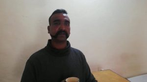 Indian pilot Wing Commander Abhi Nandan captured by Pakistan is seen in this handout photo released February 27, 2019. Inter Service Public Relation (ISPR) Handout via REUTERS