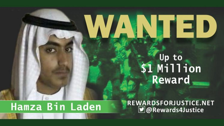 A photograph circulated by the U.S. State Department's Twitter account to announce a $1 million USD reward for al Qaeda key leader Hamza bin Laden, son of Osama bin Laden, is seen March 1, 2019. State Department/Handout via REUTERS
