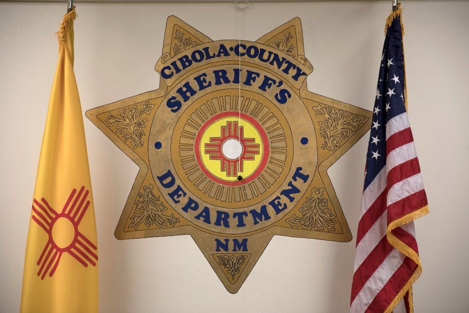 A view of the Cibola County Sheriff's Department sign in Grants, New Mexico, U.S., February 28, 2019. Picture taken February 28, 2019. REUTERS/Adria Malcolm