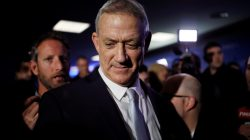 FILE PHOTO: Benny Gantz, head of Resilience party is seen after a news conference, in Tel Aviv, Israel February 21, 2019. REUTERS/Amir Cohen