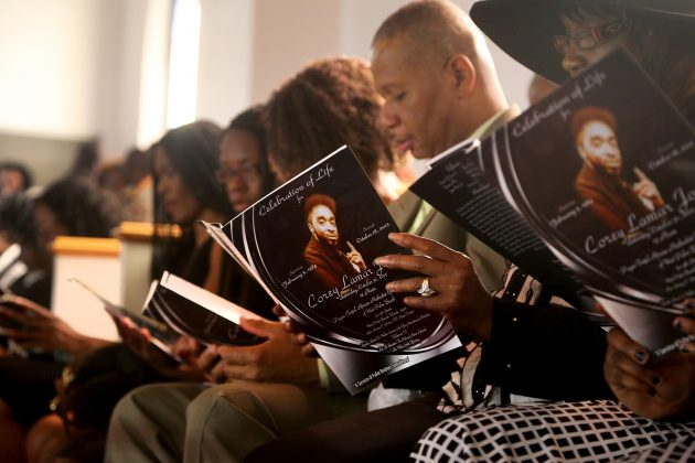 FILE PHOTO: Family and supporters attend the funeral for Corey Jones at the Payne Chapel AME of West Palm Beach, Florida October 31, 2015. REUTERS/Mike Stocker/Pool/File Photo