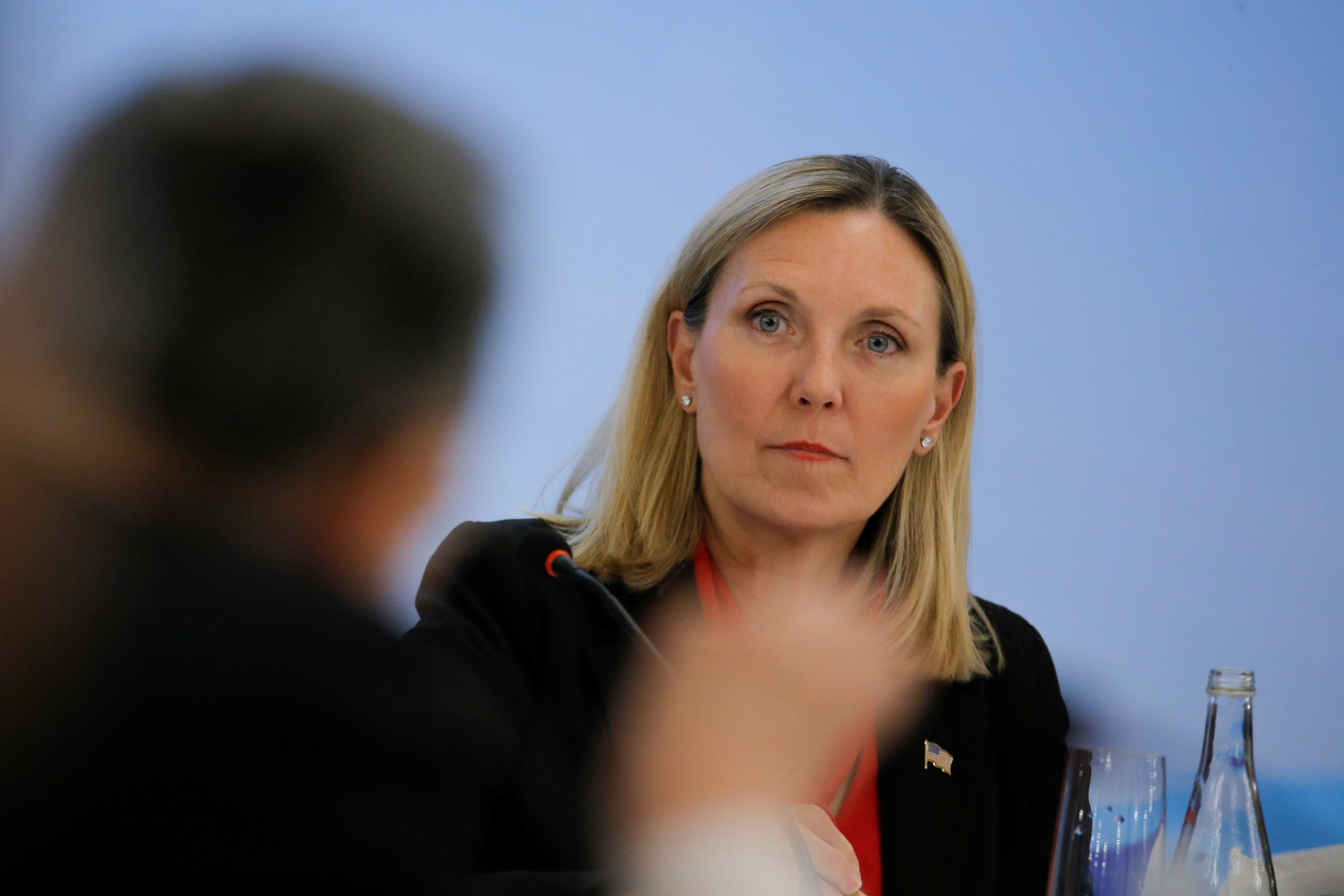 FILE PHOTO: U.S. Under Secretary of State Andrea Thompson attends a panel discussion after a Treaty on the Non-Proliferation of Nuclear Weapons (NPT) conference in Beijing, China January 31, 2019. REUTERS/Thomas Peter/Pool