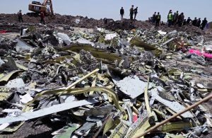 Wreckage is seen at the site of the Ethiopian Airlines Flight ET 302 plane crash, near the town of Bishoftu, southeast of Addis Ababa, Ethiopia March 11, 2019. REUTERS/Tiksa Negeri