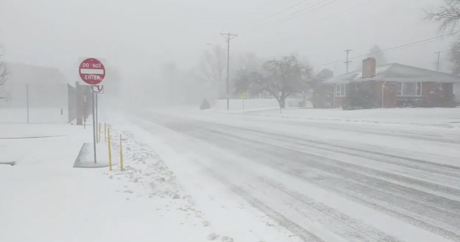 A general view of the blizzard in Greeley, Colorado, U.S. March 13, 2019 in this picture obtained from social media. Mandatory credit TWITTER @PHOTOWILLG/via REUTERS