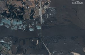 Flooded Platte River seen in this DigitalGlobe Satellite image over Nebraska, U.S., March 18, 2019. Picture taken on March 18, 2019. ©2019 DigitalGlobe, a Maxar company/Handout via REUTERS