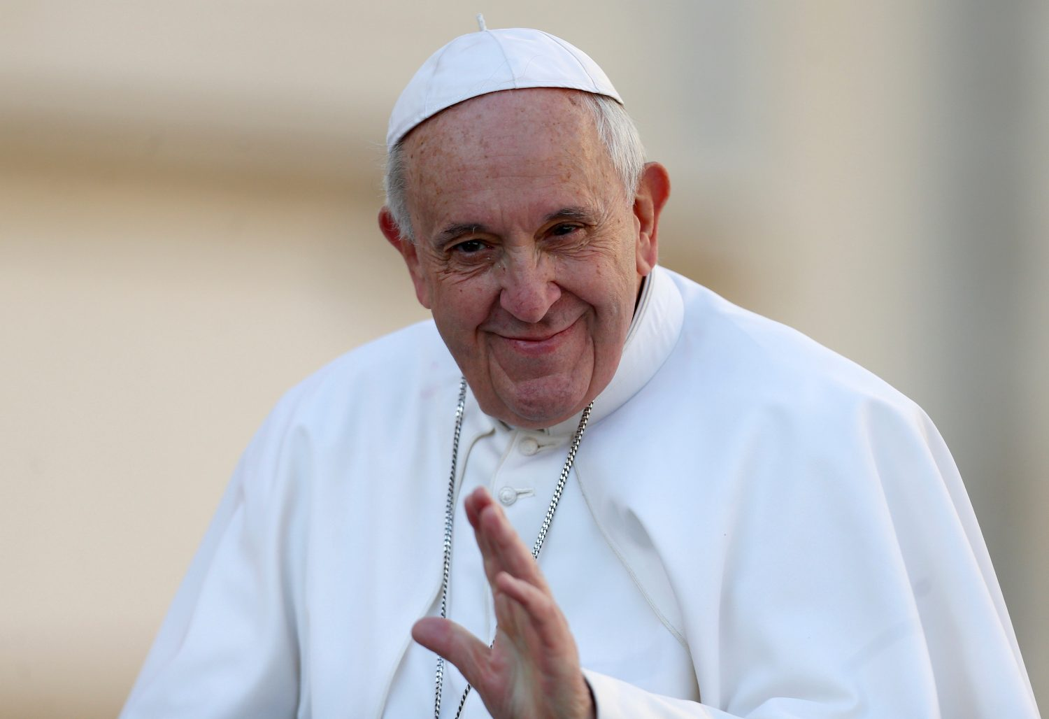 FILE PHOTO: Pope Francis is seen during the weekly audience in Saint Peter's Square, at the Vatican February 27, 2019. REUTERS/Yara Nardi/File Photo