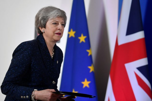 Britain's Prime Minister Theresa May arrives for a news briefing after meeting with EU leaders in Brussels, Belgium May 22, 2019. REUTERS/Toby Melville