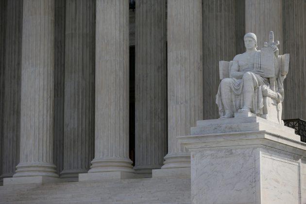 FILE PHOTO: The U.S. Supreme Court building is pictured in Washington, U.S., March 20, 2019. REUTERS/Leah Millis/File Photo