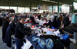 People shop in a second-hand bazaar in Ankara, Turkey, March 27, 2019. Picture taken March 27, 2019. REUTERS/Umit Bektas