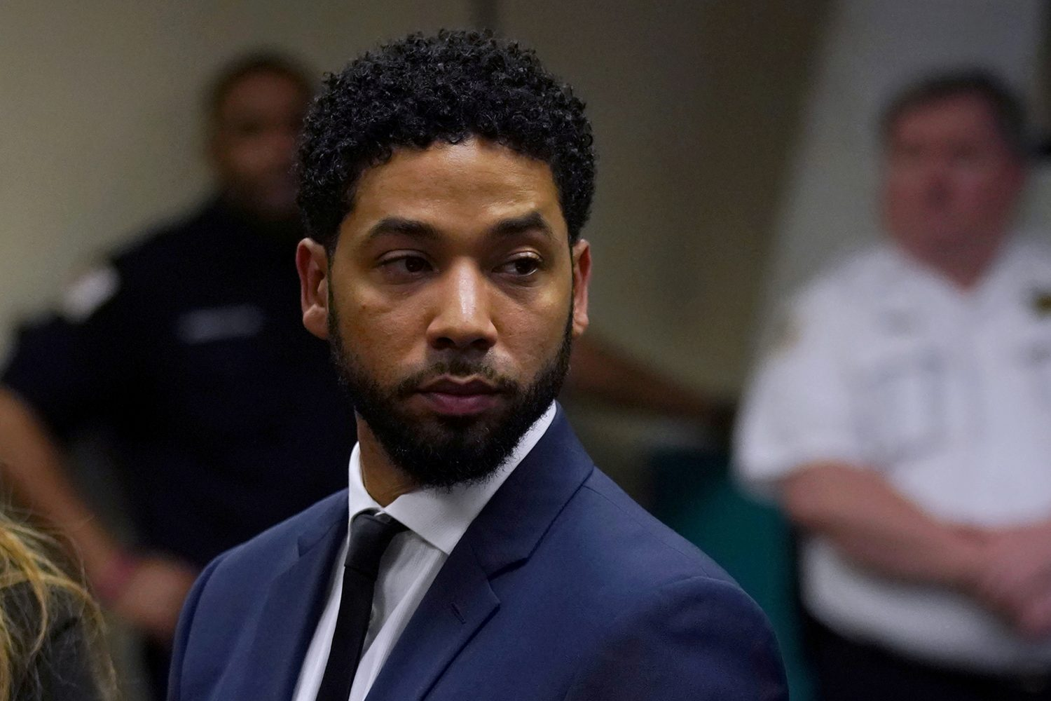 FILE PHOTO: Actor Jussie Smollett makes a court appearance at the Leighton Criminal Court Building in Chicago, Illinois, U.S., March 14, 2019. E. Jason Wambsgans/Chicago Tribune/Pool via REUTERS