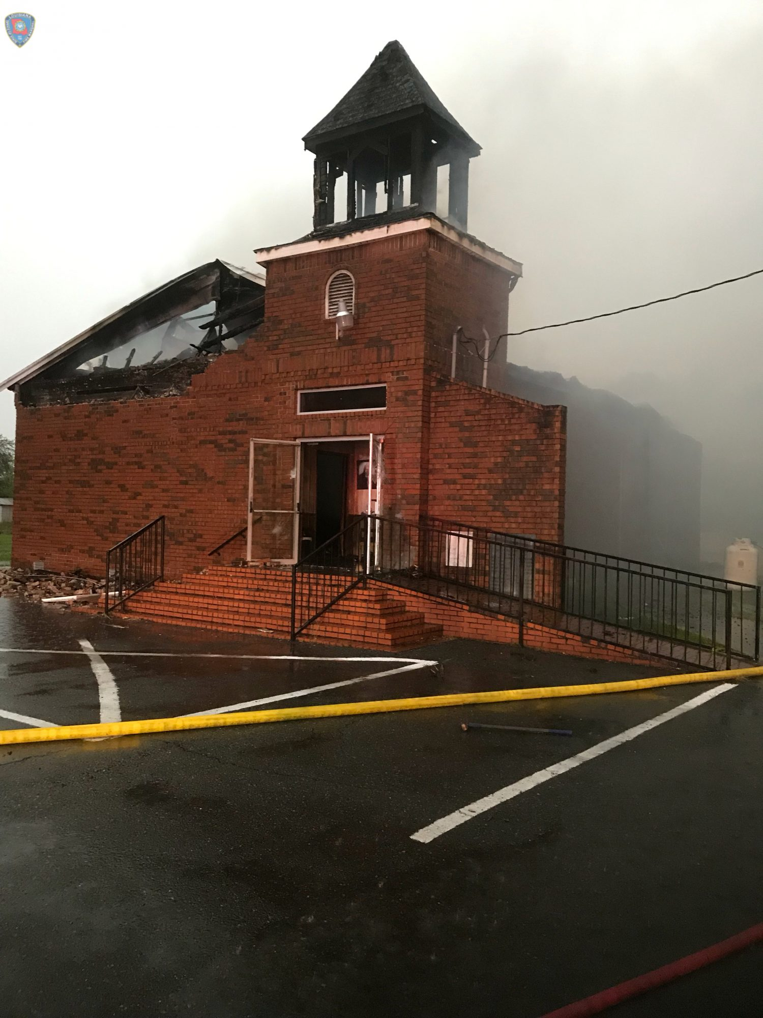 The Mount Pleasant Baptist Church in Opelousas, Louisiana, U.S. April 4, 2019 is pictured after a fire in this picture obtained from social media. Courtesy Louisiana Office Of State Fire Marshal/Handout via REUTERS