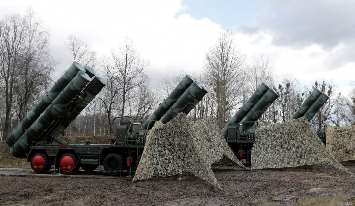 """FILE PHOTO: New S-400 """"Triumph"""" surface-to-air missile system after its deployment at a military base outside the town of Gvardeysk near Kaliningrad, Russia. Picture taken March 11, 2019. REUTERS/Vitaly Nevar/File Photo/File Photo"""