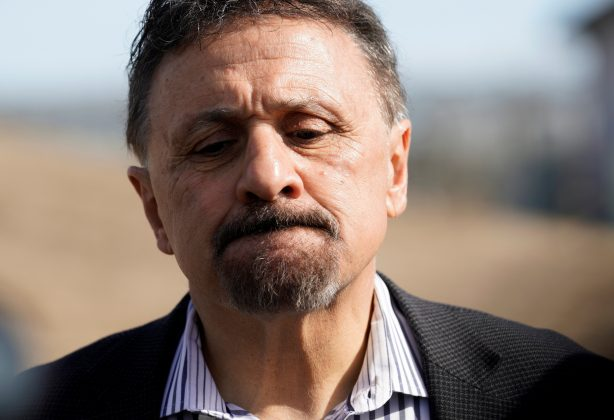Former Columbine High School principal Frank DeAngelis pauses while speaking outside the school during a National School Walkout to honor the 17 students and staff members killed at Marjory Stoneman Douglas High School in Parkland, Florida, in Littleton, Colorado, U.S. March 14, 2018. REUTERS/Rick Wilking