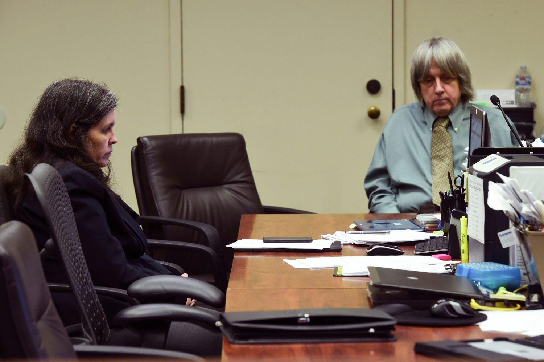 FILE PHOTO: Louise Anna Turpin (L) and David Allen Turpin make a court appearance in Riverside, California, U.S. May 4, 2018. Watchara Phomicinda /The Press -Enterprise/Pool via REUTERS