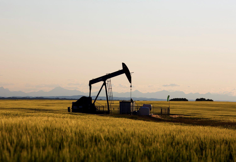 FILE PHOTO: An oil pump jack pumps oil in a field near Calgary, Alberta, Canada, July 21, 2014. REUTERS/Todd Korol/File Photo