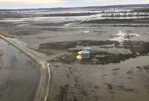 FILE PHOTO: Flood damage is shown in this aerial photo in southwestern Iowa, U.S., March 29, 2019. REUTERS/Tom Polansek/File Photo