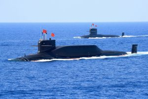 A nuclear-powered Type 094A Jin-class ballistic missile submarine of the Chinese People's Liberation Army (PLA) Navy is seen during a military display in the South China Sea April 12, 2018. REUTERS/Stringer
