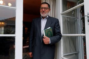 FILE PHOTO: Imam Ibrahim Abdelhalim of the Linwood Mosque poses for a picture at the door of his house in Christchurch, New Zealand March 16, 2019. REUTERS/Jorge Silva/File Photo