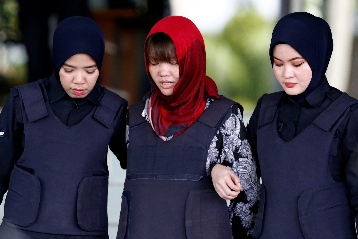 FILE PHOTO: Vietnamese Doan Thi Huong, who was a suspect in the murder case of North Korean leader's half brother Kim Jong Nam, leaves the Shah Alam High Court on the outskirts of Kuala Lumpur, Malaysia March 14, 2019. REUTERS/Lai Seng Sin