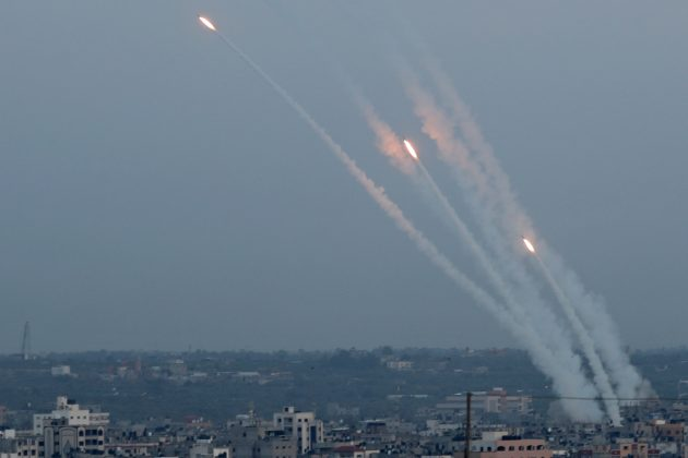 Rockets are fired from Gaza towards Israel, in Gaza May 5, 2019. REUTERS/Mohammed Salem