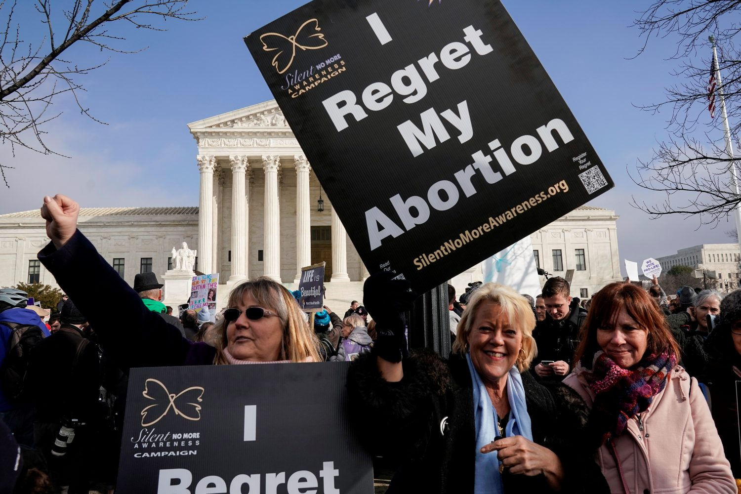 FILE PHOTO: Anti-abortion marchers rally at the Supreme Court during the 46th annual March for Life in Washington, U.S., January 18, 2019. REUTERS/Joshua Roberts