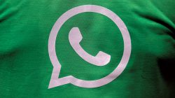 FILE PHOTO: A logo of WhatsApp is pictured on a T-shirt worn by a WhatsApp-Reliance Jio representative during a drive by the two companies to educate users, on the outskirts of Kolkata, India, October 9, 2018. REUTERS/Rupak De Chowdhuri -