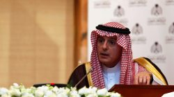FILE PHOTO: Saudi Arabia's Minister of State for Foreign Affairs Adel bin Ahmed Al-Jubeir speaks during a news conference with Russia's Foreign Minister Sergei Lavrov (not pictured) in Riyadh, Saudi Arabia March 4, 2019. REUTERS/Faisal Al Nasser