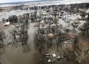 FILE PHOTO: Flood damage is shown in this earial photo in Percival, Iowa, U.S., March 29, 2019. REUTERS/Tom Polansek/File Photo